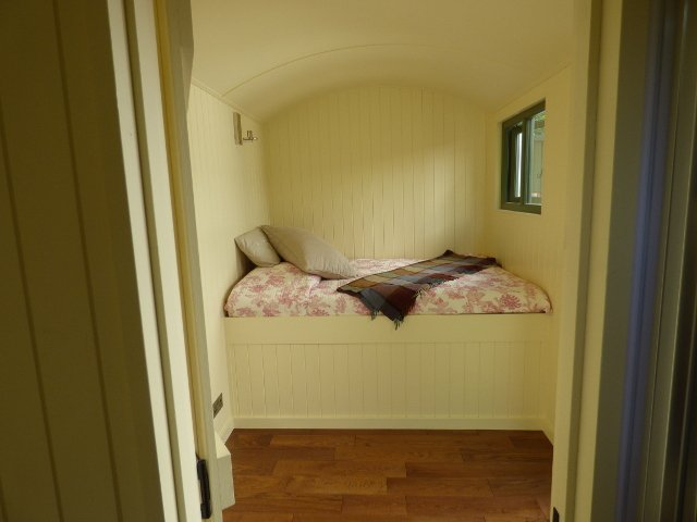 Inside the Shepherd Hut at Conrah Hotel