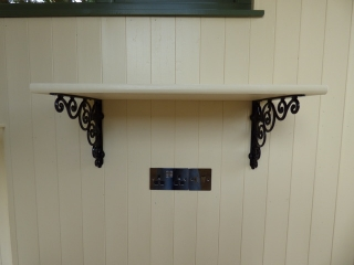 Stockman Shepherd Hut interior shelving and sockets