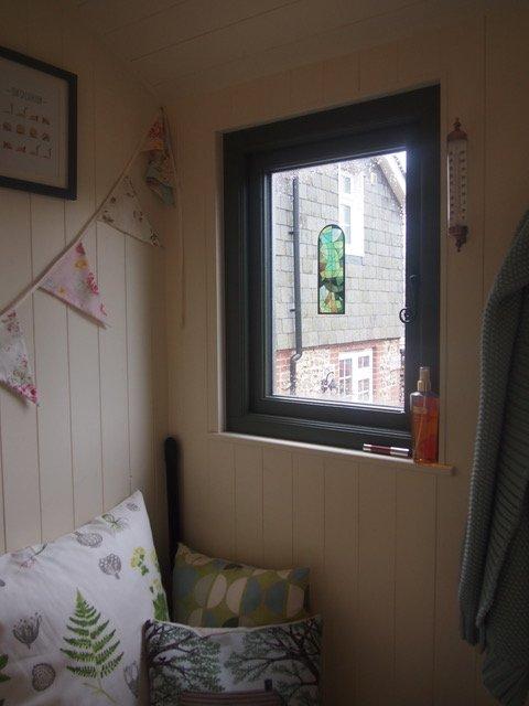 Stockman Tanglefoot Shepherd Hut window from interior
