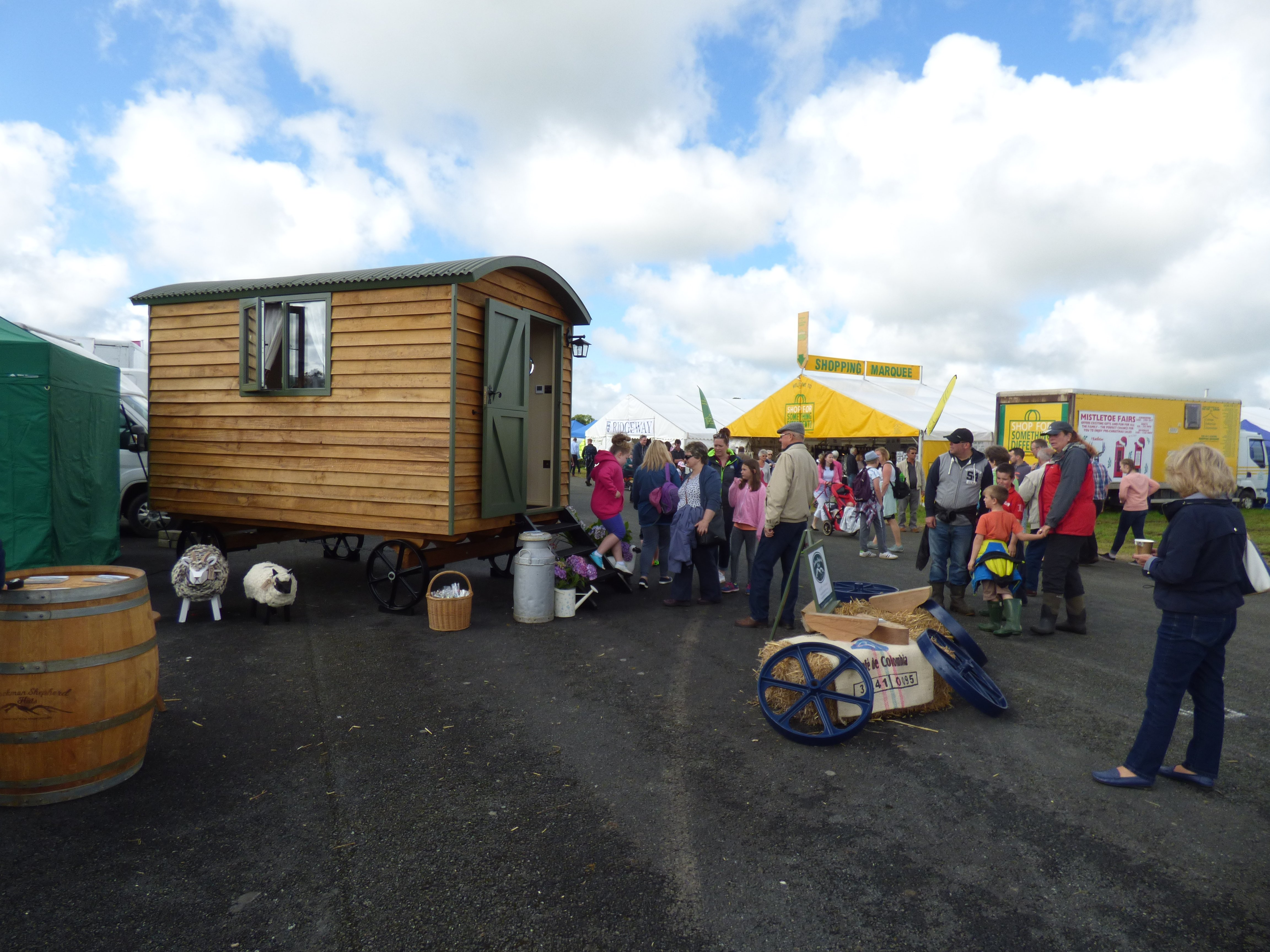 Stockman Shepherd Huts prize winning at show