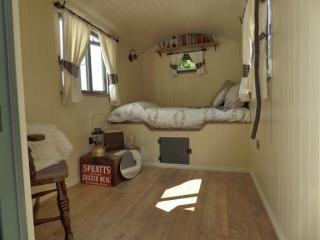 Interior of a bespoke shepherd hut - Stockman Shepherd Huts