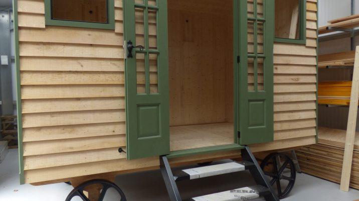 Shepherd hut being built in workshop - Stockman Shepherd Huts