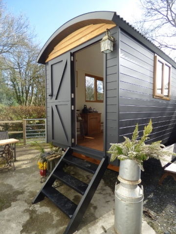 Bespoke Shepherd Hut with painted cladding