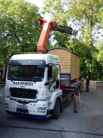 Delivery of Handmade Bespoke Shepherd Hut