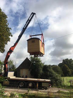 Hut delivery in Dorset