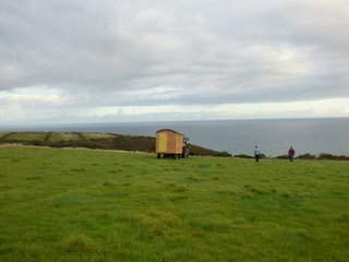 View of Shepherd Hut on Pembrokeshire Coast