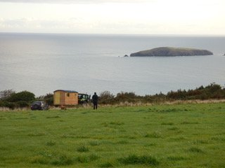 Bespoke Shepherd Hut in Pembrokeshire with sea views