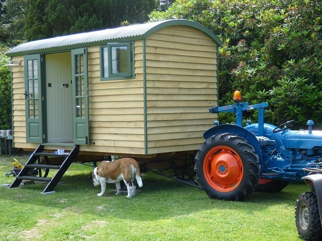 Shepherd Hut and Old Tractor