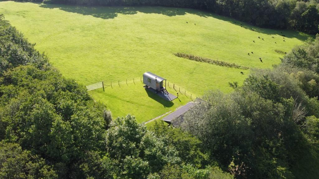 Bespoke Shepherd Hut - Aerial View