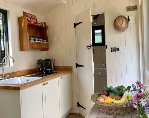 Inside a Shepherds Hut