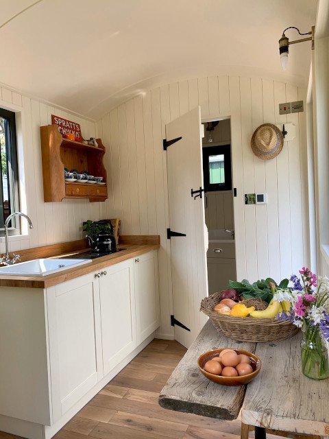 Inside a Shepherd's Hut