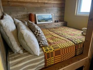 Stockman Shepherd's Hut raised bed area