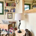 Interior of a writer's shepherd's hut