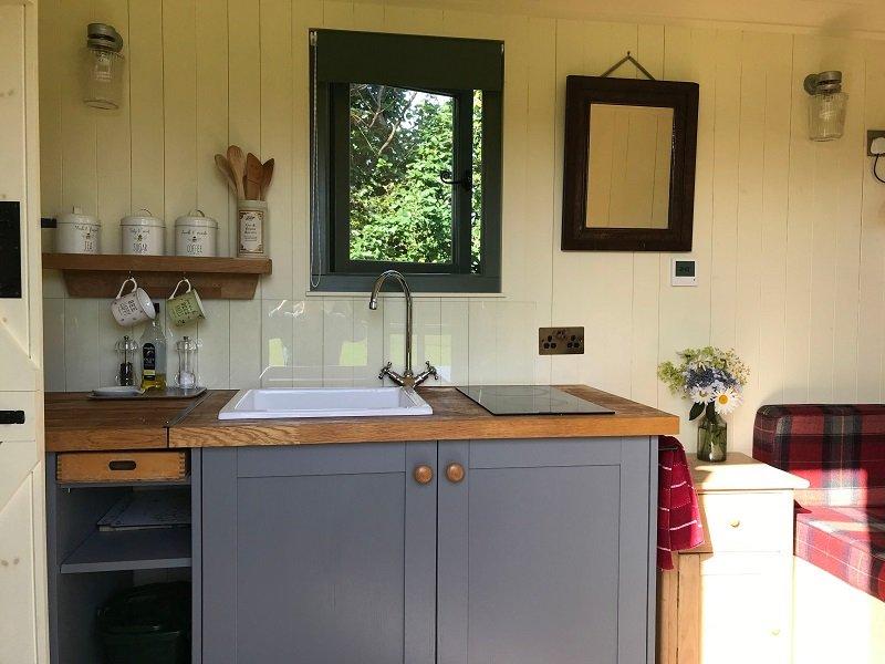 Bespoke Shepherd Hut Kitchenette