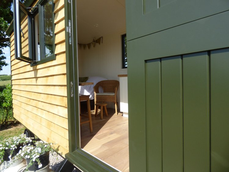 Woolly Sheep Hut doorway