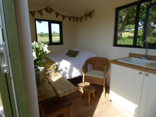 Woolly Sheep Hut interior