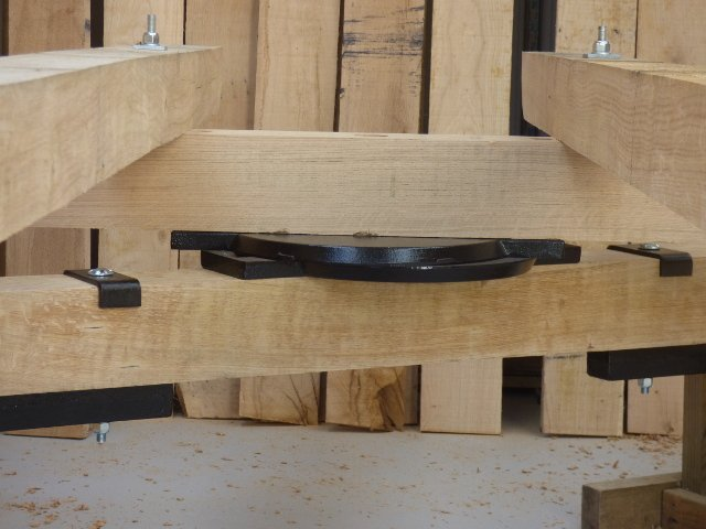 Stockman Shepherd Hut oak chassis and axle turnplate