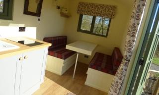Stockman Shepherd Hut seating area example
