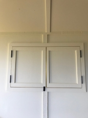 Window shutters closed