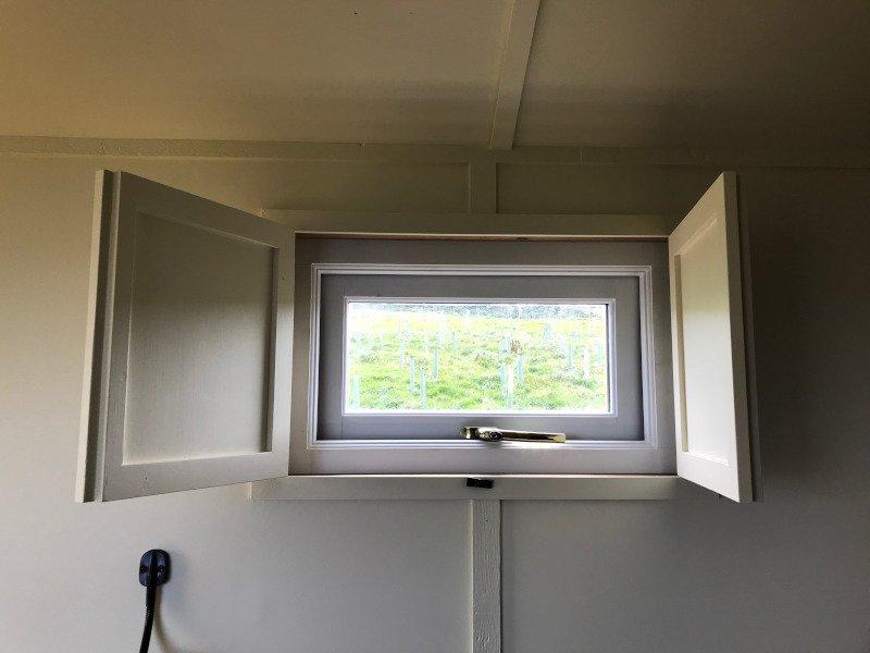Window shutters open